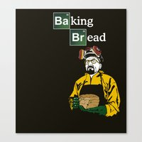 baking Canvas Prints featuring Baking Bread by azra