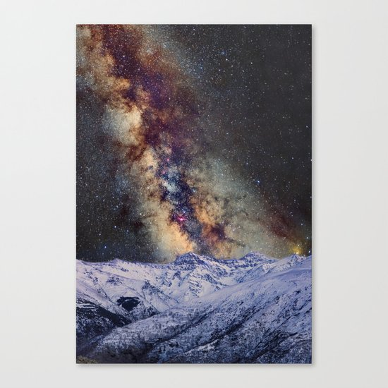 Sagitario, Scorpio and the star Antares over the hight mountains Canvas Print
