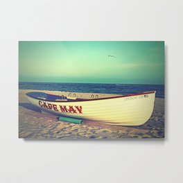 Cape May Lifeboat Metal Print
