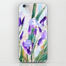 Purple Irises III iPhone Skin