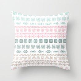 Modern pastel color geometrical scandinavian pattern Throw Pillow