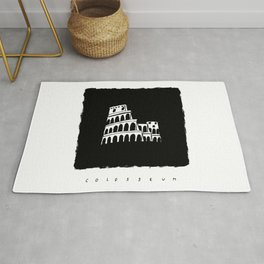 Colosseum in ink Rug