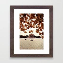 Washington Monument in Bloom Framed Art Print