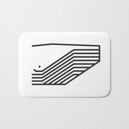 Minimalist Whale Bath Mat