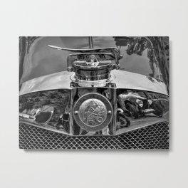 Lea Francis Radiator Cap - Monochrome Metal Print