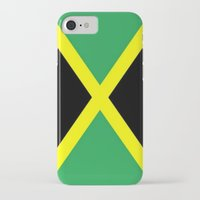 jamaica iPhone & iPod Cases featuring Jamaica Flag by D.A.S.E. 3