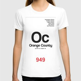 Orange County City Poster T-shirt