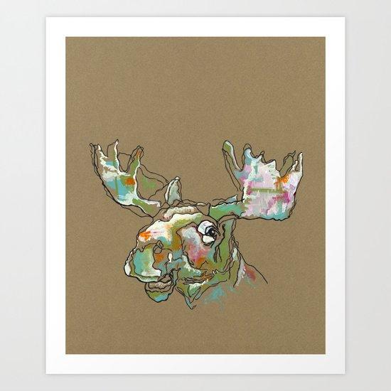 Sorbet Moose Art Print