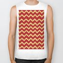Chevron Red Gold by lavieclaire