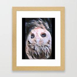 Marble Owl Framed Art Print