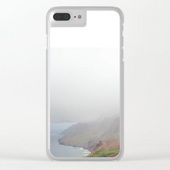 Wild Tropical Mountain Beach Clear iPhone Case