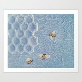 Bees to the Honey  Art Print
