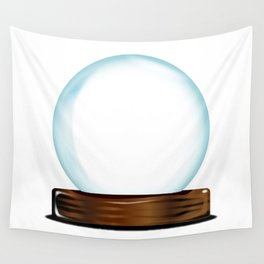 Empty Crystal Ball Wall Tapestry