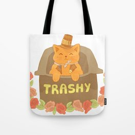Cup-hat Kitty Tote Bag