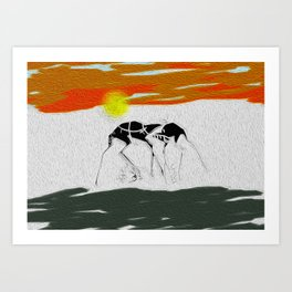 Two Camels Art Print