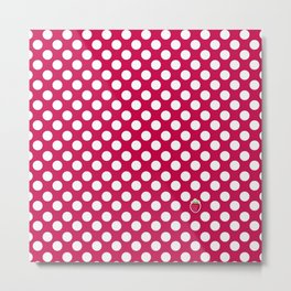 red polka dots Metal Print