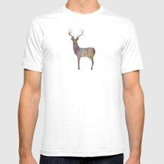 deer color MEDIUM Mens Fitted Tee White