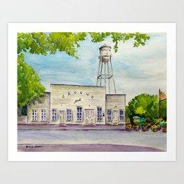 Greune Hall - Texas's Oldest Dance Hall Art Print