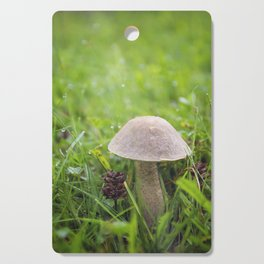 Mushroom in the Morning Dew by Althéa Photo Cutting Board