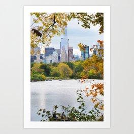 88. Autumn in Central Park, New York Art Print