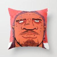 kate bishop Throw Pillows featuring Bishop by Davel F. Hamue
