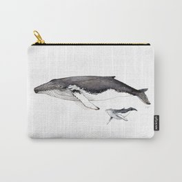 North Atlantic Humpback whale with calf Carry-All Pouch