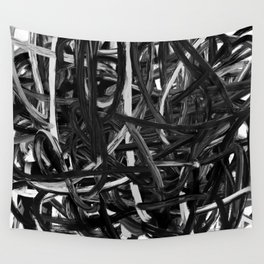 Black & White Abstract III Wall Tapestry