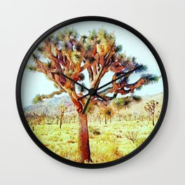 Joshua Tree VG Hills by CREYES Wall Clock