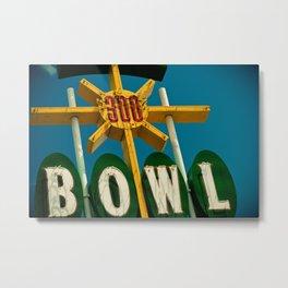 A Perfect Score - Vintage Bowling Alley Photograph Metal Print