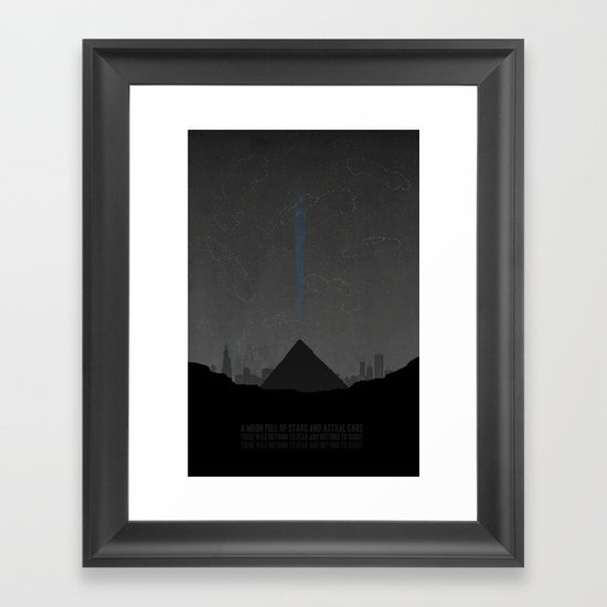Pyramid Song Framed Art Print