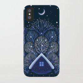 Tiny House - Snowy Night iPhone Case