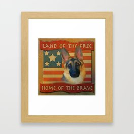 Home of the Brave Framed Art Print