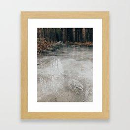 Frozen river or path? Framed Art Print