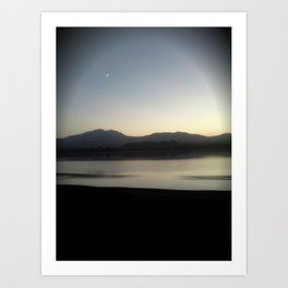 Little Crescent Over Sunset Art Print