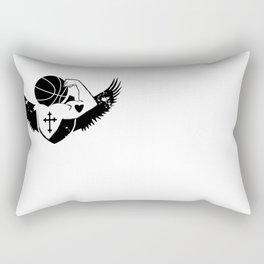 Faith Strength Heart Basketball Rectangular Pillow