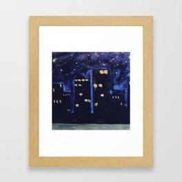 Haute Blue Night Framed Art Print