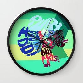 ruby x sapphire Wall Clock