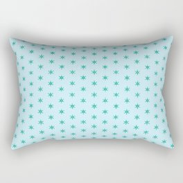 Green wheels on blue- nautical with a difference Rectangular Pillow