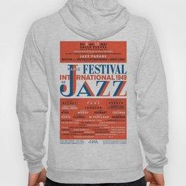Vintage 1949 Paris International Jazz Festival Poster Hoody