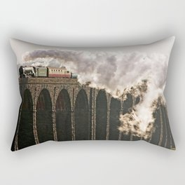 60163 Tornado Steaming over Ribblehead Viaduct Rectangular Pillow
