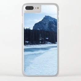 Banff frozen river Clear iPhone Case