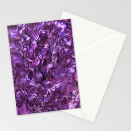Abalone Shell | Paua Shell | Sea Shells | Patterns in Nature | Magenta Tint | Stationery Cards