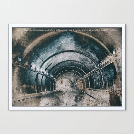 Tunnel of life Canvas Print