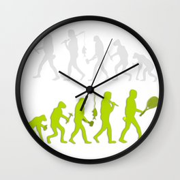 Evolution of Tennis Species Wall Clock