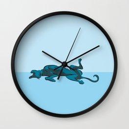Roaching Greyhound Wall Clock