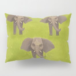 Elephants in Formation Pillow Sham