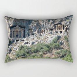 Carved Rock Tombs at Dalyan Rectangular Pillow