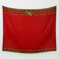 deco Wall Tapestries featuring Christmas Deco by Elena Indolfi