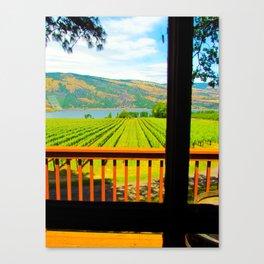 Garnier Vineyards - From Deck Canvas Print