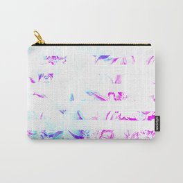 Washed Out Floral Stripes Carry-All Pouch